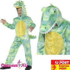 Boys Deluxe Dinosaur Costume Kids Child Book Week Animal Zoo Party Jumpsuit