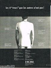 PUBLICITE ADVERTISING 085  1971  HOM  sous vetements