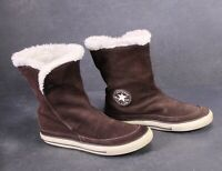 CB690 Converse Beverly Boots Chucks Sneaker Stiefel Gr. 39 Leder braun Fell