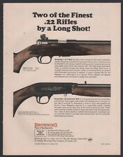 1969 BROWNING T-Bolt & Automatic .22 Rifle AD Old Gun Advertising