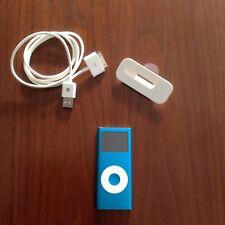 ipod nano 2 generazione Blu 4gb Con Custodia.