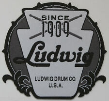 Ludwig Drum Iron on patch, woven, musicians, instruments, drummers, bands