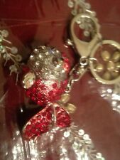 fish key chain,keychain, key ring, hook, hook to wallet, bag or hang in car Red