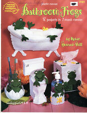 """""""Bathroom Frogs""""~Plastic Canvas Pattern Book Only~See Pictures"""