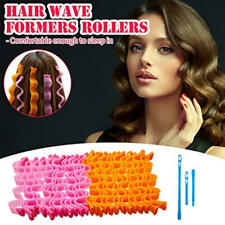 12Pcs 25'' Magic Long Hair Curlers no heat Spiral Rollers Set Styling DIY Hair