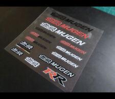 無限 MUGEN POWER CIVIC TYPE R Honda car interior small Stickers Set #1