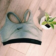 Gray Nike Pro Sports Bra Size Large Yoga Running Athletic Racerback Support Comf