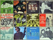 Lot de 12 x 45t The Beatles, John Lennon, George Harrison, Ringo Starr