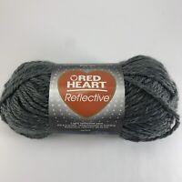 Red Heart Reflective Yarn Grey E820-8429 Bulky Gray Coats & Clark Skein
