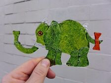 Elephant design Fused Glass Art unique gift for any occasion Birthday Christmas