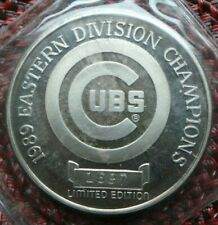 1989 Eastern Division Champions Chicago Cubs 1 oz .999 Silver ~ Limited Edition