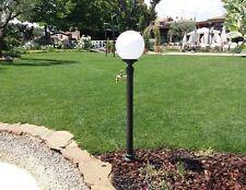 Fontana a colonna in ghisa e acciaio per casa giardino + rubinetto e globo luce