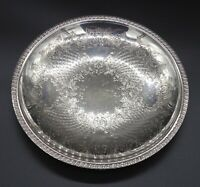 VINTAGE SERVING DISH CHARGER BREAD BASKET FRUIT BOWLGADROONED SILVER PLATED