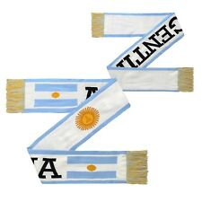 Argentina World Cup Soccer 3 Flag Scarf Football National Team Scarf Blue