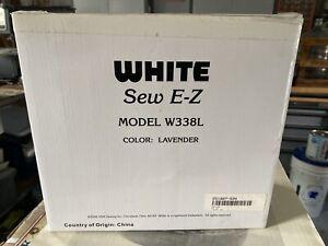 WHITE SEW E-Z MODEL W338 MINI SEWING MACHINE Color: Lavender