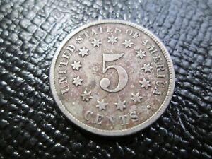 1874 SHEILD & 1899 LIBERETY 5 CENT NICKELS (2 coins)