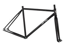 All City Drop Out Fixed Gear Freestyle Frame and Fork BLACK Small Track Frameset