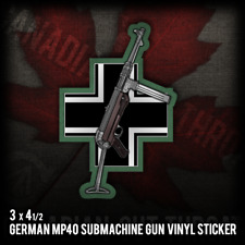 MP40 German Army Gun WW2 Warfare Military Rifle Vinyl Decal Sticker