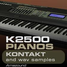 K2500 & K2600 PIANOS for KONTAKT - 35 NKI PATCHES 728 WAV SAMPLES 24BIT