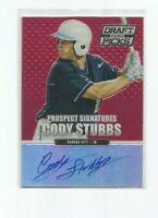CODY STUBBS (Royals) 2013 PANINI PRIZM DRAFT PKS RED PRIZM AUTO CARD #26/100