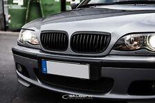 Schwarz glänzende Nieren 3er BMW E46 Limousine FL Grill E92 Look Salberk 46021