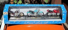 Maisto Dayton Hudson Set # 1 3 Motorcycles W/Individual Display Stands-MIB