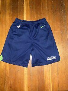 Nike Seattle Seahawks Shorts Boys Youth Medium With Pockets