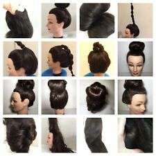 Hair Mannequin Long Haired 'Helen' Intriguing Look Human Hair Hand Implanted
