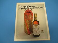 1968 Canadian Club Whiskey, world's most popular Christmas club, Print Ad PA013