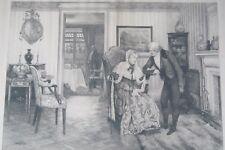 Antique Original 1894 Engraving After Walter Dendy Sadler by H Boucher