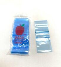 Apple Baggies 2020 Blue 100 Pack 2x2 Inch Small Plastic Zipper Bags
