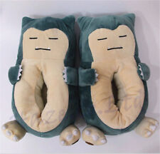 Anime Snorlax Stuffed Plush Warm Shoes Indoor Slippers Unisex