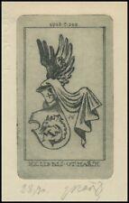 Marik Jaroslav 1938 Exlibris C3 Bookplate Heraldry Heraldik 1878