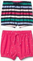 NWT (2) TODDLER GIRL BABY GAP PULL ON BUBBLE SHORTS SIZE 3T