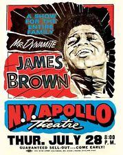 Vintage POSTER  Rare    JAMES BROWN   Concert  Apollo Theater NYC  New York City