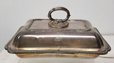 Antique English Silverplate Sheffield Silver Covered Split Two Part Dish