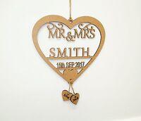 Personalised Wedding Mr & Mrs Date Decoration, Surname, Last Name, Rustic