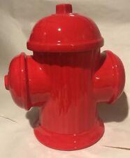 Doranne Red Fire Hydrant ceramic Cookie Jar Storage container firefighter gift