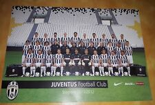 JUVENTUS cartolina squadra foto formato A4 ufficiale 2011/12