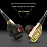 In-Ear Earphone Dual Dynamaic Driver Headphone Stereo 7D HIFI Super Bass Headset