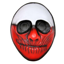 Red Airsoft Paintball Mask Full Protection PORP Cosplay PAYDAY Heist Joker Mask