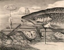 Dali Varden 8X10 Pencil Drawing fish art print Cottage Decor by Barry Singer