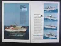1961 Cruis Along El Dorado Courier Gulfstream & Clipper boats vintage print Ad