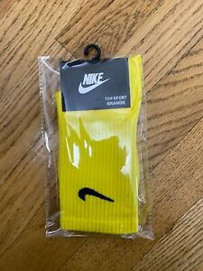Nike Everyday Sock Solid Colored Not Tie Dyed No Dye Unisex Yellow
