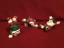 "New listing Fitz & Floyd Christmas ""Tumbling Elves"" 3 pc."