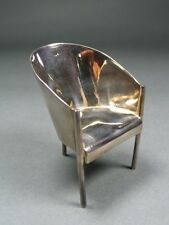 "Philippe Starck Sterling Silver Mini ""Costes"" Chair by ACME Studio NEW"