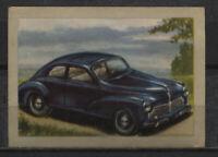 Peugeot Berline 1950 Vintage 1950s Dutch Trading Card No. 88
