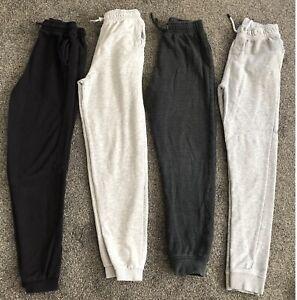 Bundle of 4 x Pairs Boys Joggers (TU Sainsbury's) - Age:13/14 - Grey/Black