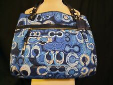 NWOT Coach Poppy Signature Glam Tote - Denim Blue - 19881 - RARE - Ltd Edition