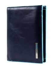 Piquadro Bourse Blue Square Wallet Vertical